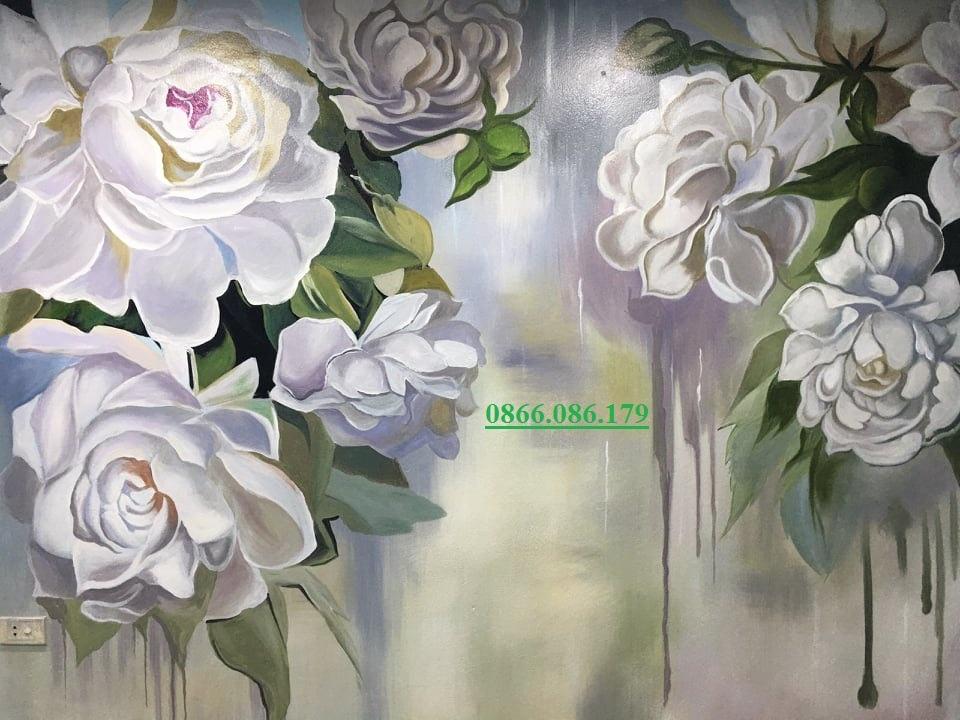 vẽ tranh hoa 3d