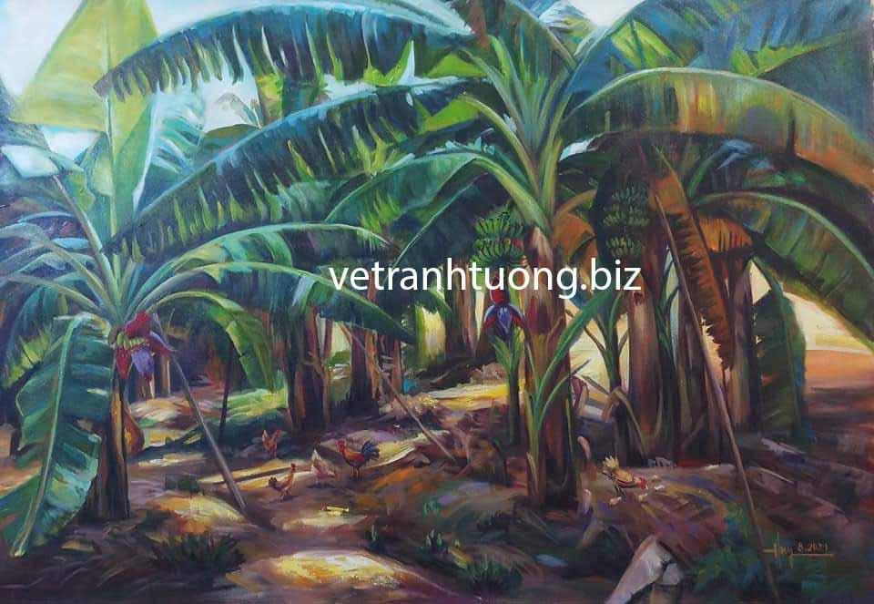vẽ tranh phong cảnh đồng quê