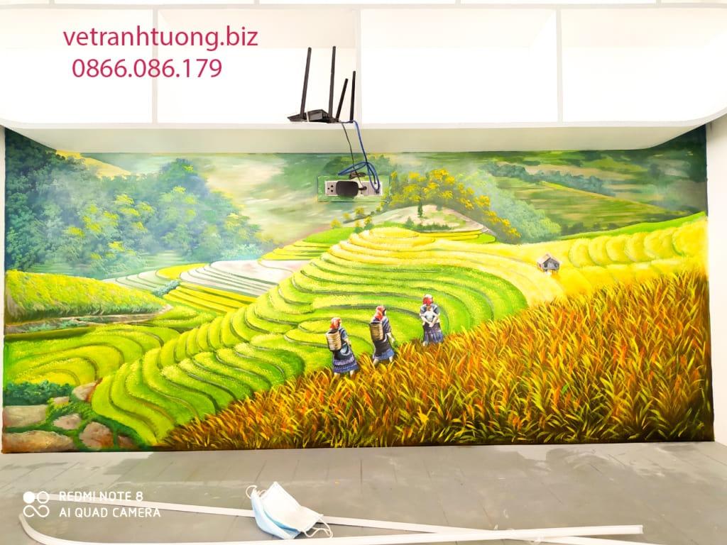 vẽ tranh tường ruộng bậc thang
