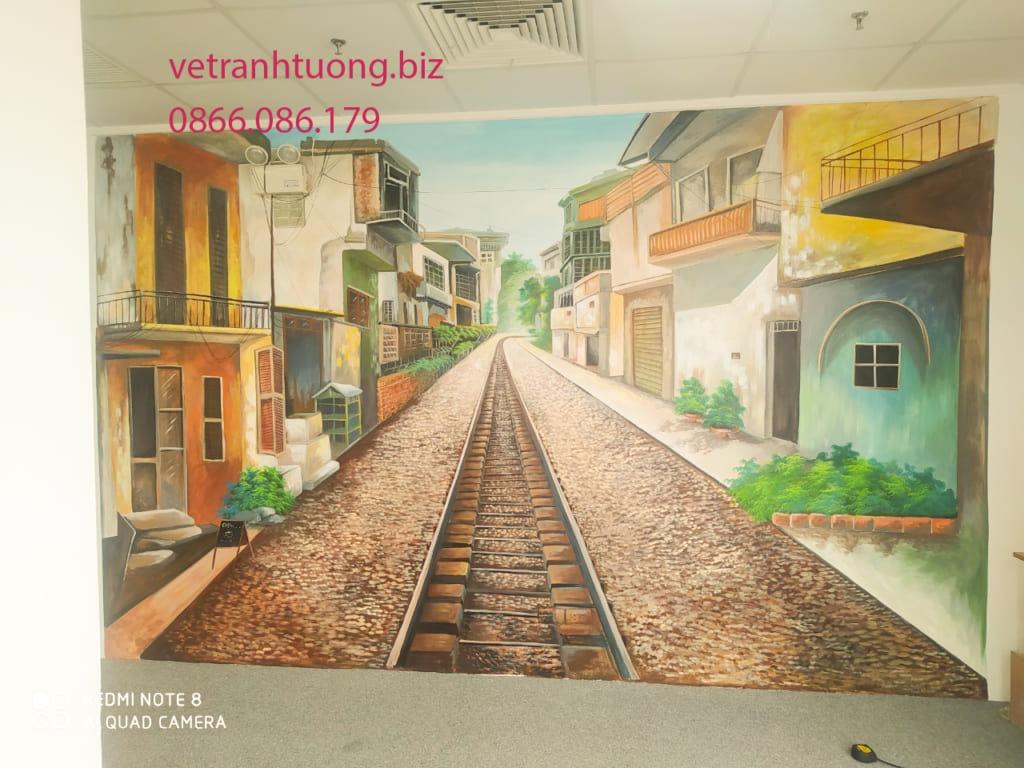 vẽ tranh tường phố cổ 3d