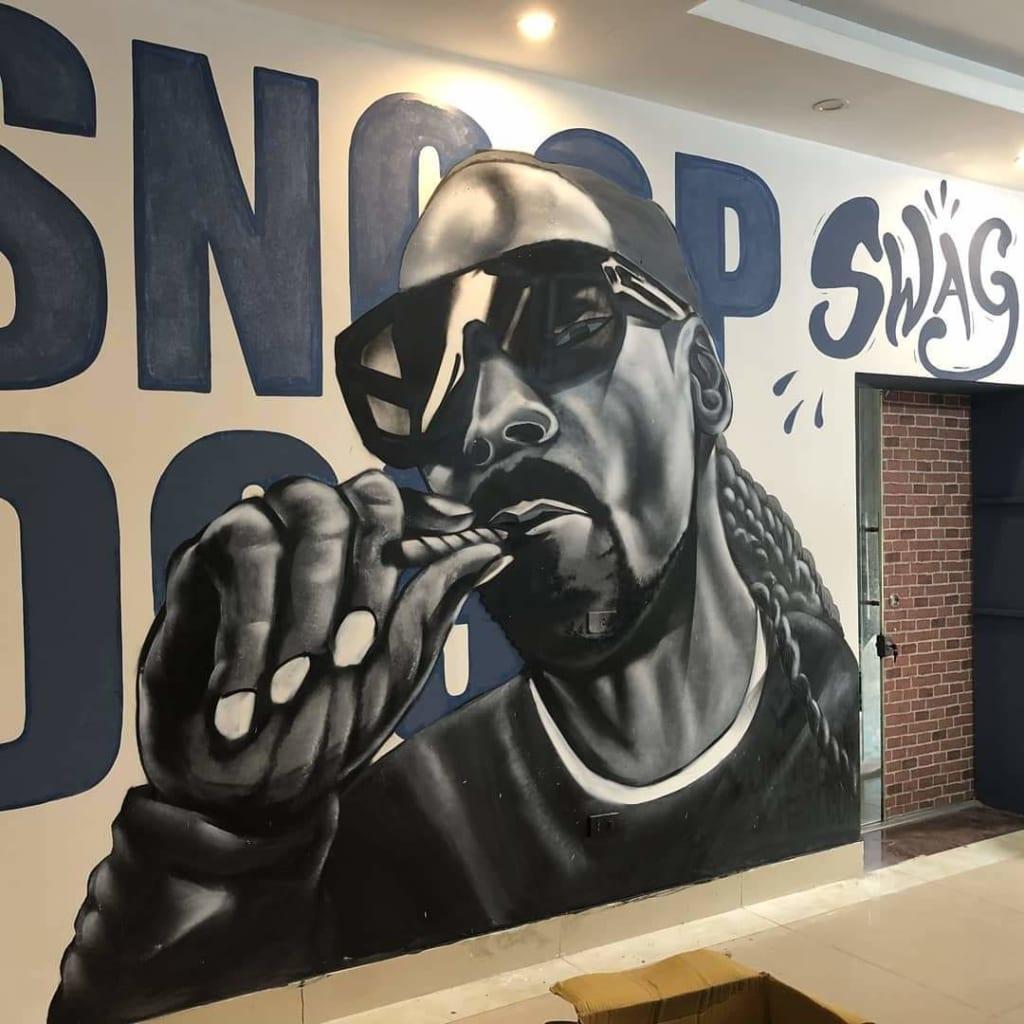 tranh tường 3d phòng gym tại Hà Nội
