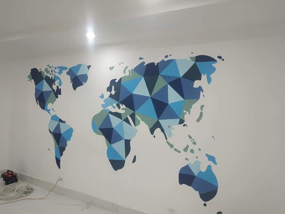 tranh tường văn phòng