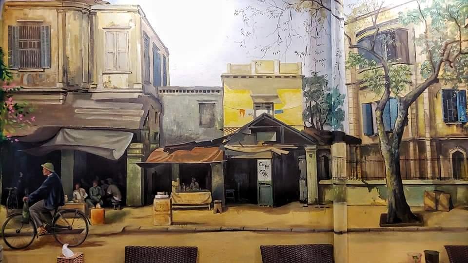 vẽ tranh tường 3D phố cổ