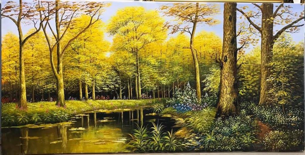 vẽ tranh phong cảnh hiện đại