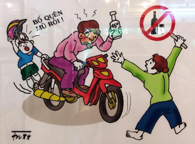 vẽ tranh an toàn giao thông 3