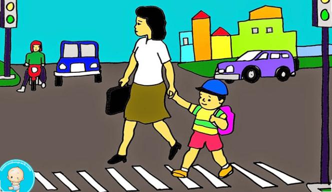 tranh an toàn giao thông lớp 4