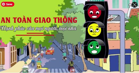 tranh cổ động an toàn khi tham gia giao thông