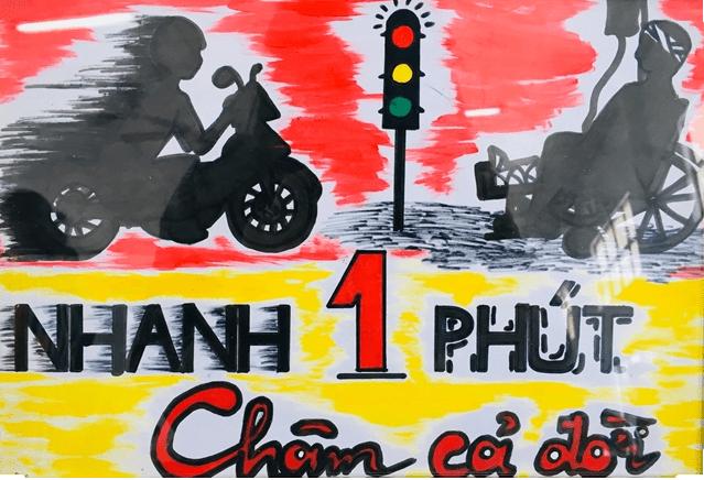vẽ tranh an toàn giao thông 7