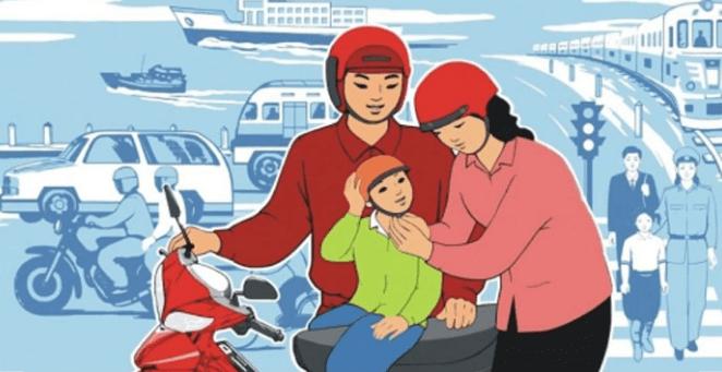 vẽ tranh an toàn giao thông dành cho các bé