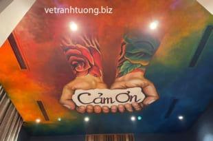 vẽ tranh tường quán cafe phong cách mới