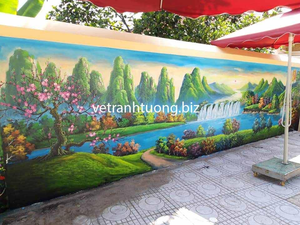 tranh tường sơn thủy