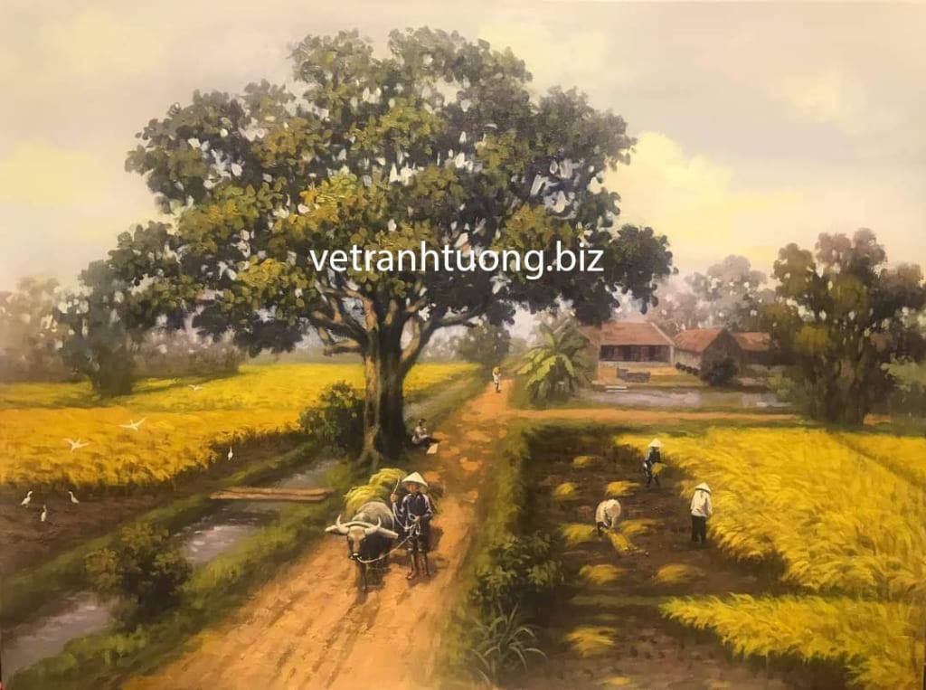 vẽ tranh đồng quê