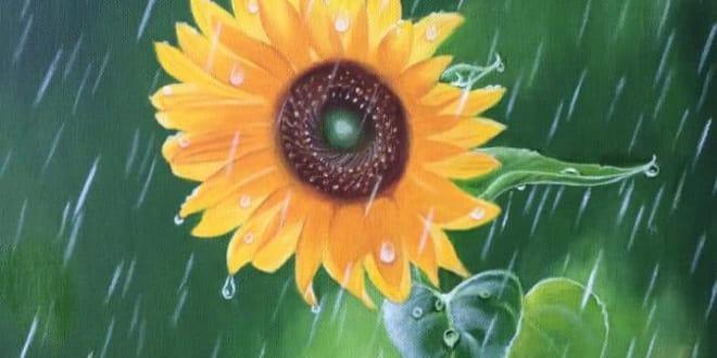 Vẽ tranh tường hoa hướng dương đẹp ý nghĩa + Nhiều mẫu tranh mới - Vẽ tranh tường Hà Nội
