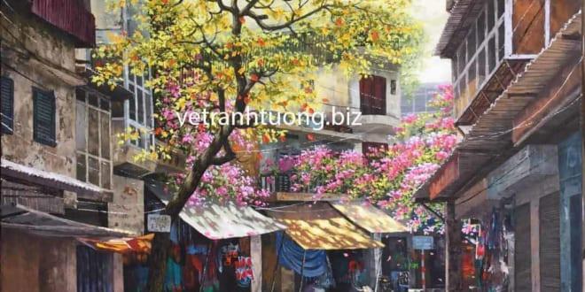 Vẽ tranh tường phòng ngủ đơn giản đẹp giá rẻ mẫu tranh đẹp mới nhất - Vẽ tranh tường Hà Nội