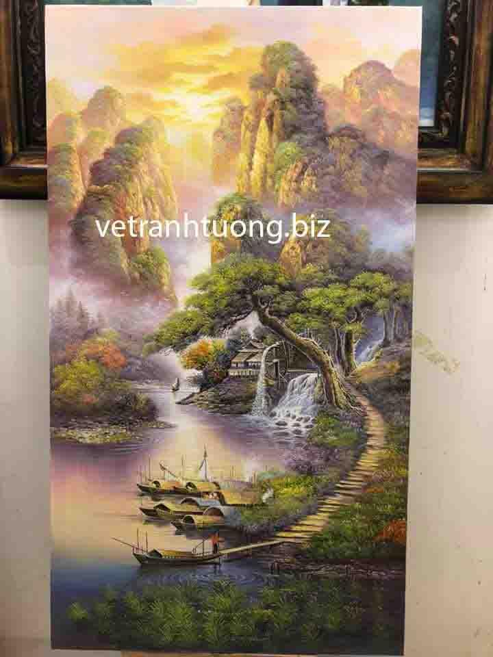 vẽ tranh tường sơn thủy tại tuyên quang