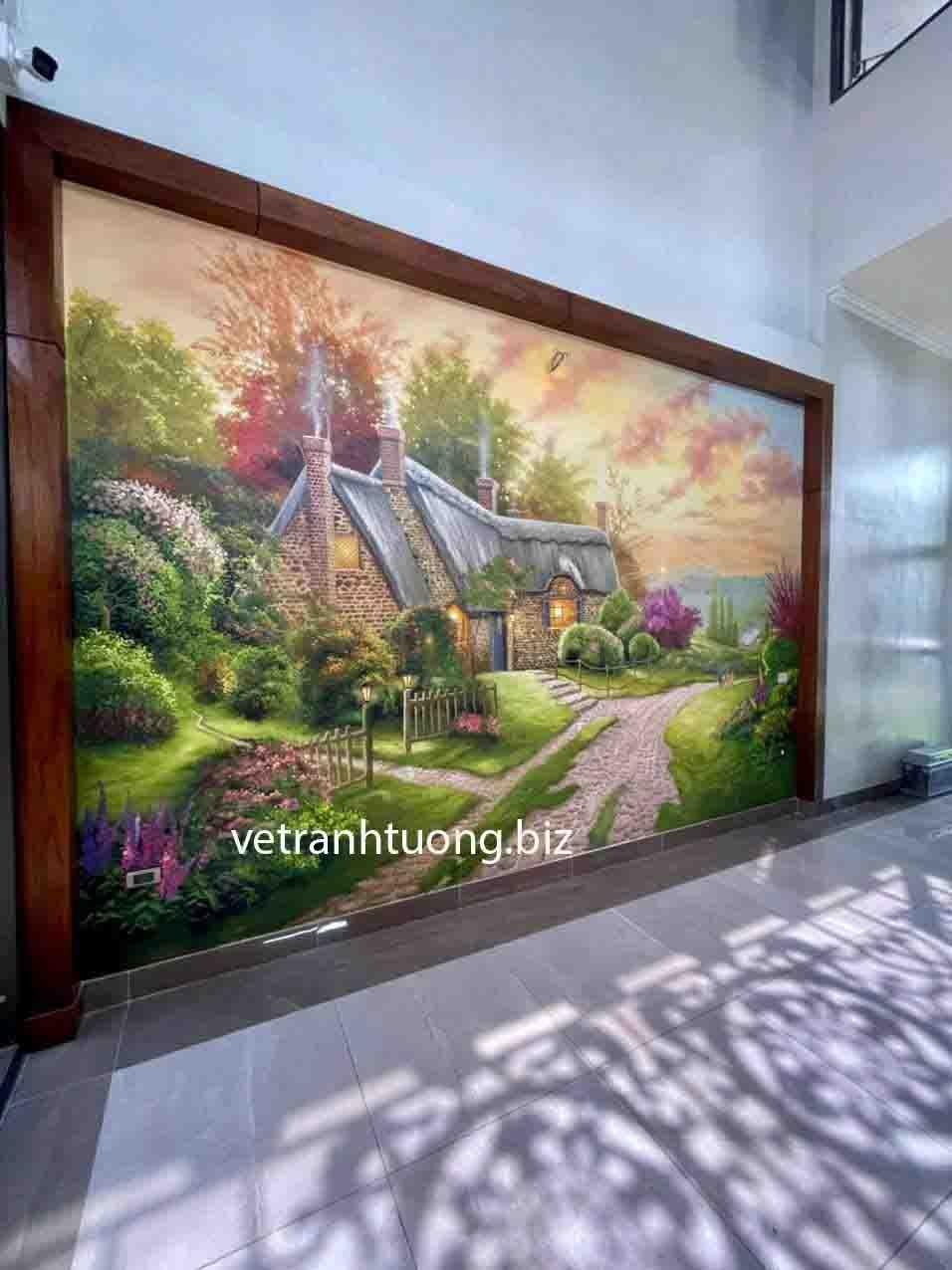 vẽ tranh tường tại tuyên quang phong cảnh hiện đại