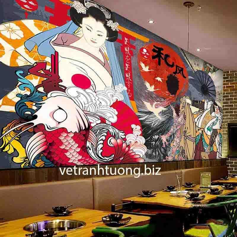 vẽ tranh tường nhà hàng tại bắc ninh