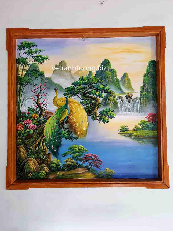 vẽ tranh tường phòng khách tại bắc ninh