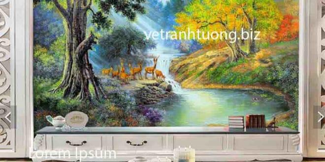Vẽ tranh tường Tuyên Quang 3D  đẹp giá rẻ + 1000 mẫu tranh mới - Vẽ tranh tường Hà Nội
