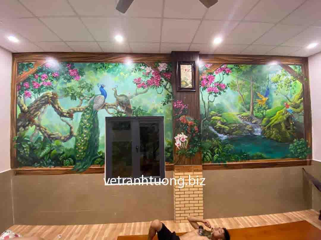 Thi công vẽ tranh tường quán cafe tại Tuyên Quang